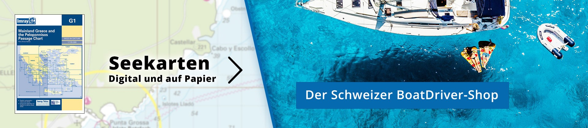 BoatDriver-Shop: Seekarten digital und auf Papier