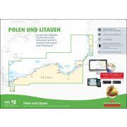 Sportbootkarten Satz 13: Polen und Litauen (Ausgabe 2018/2019)