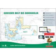 Sportbootkarten Satz 4: Großer Belt bis Bornholm (Ausgabe 2019)