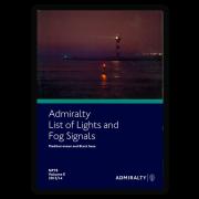 NP78 Admiralty List of Lights and Fog Signals Western Mediterranean