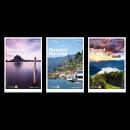 Luganersee: Informative Schiffskarte, Seeführer und Touristic Guide