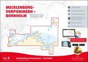 Sportbootkarten Satz 2: Mecklenburg-Vorpommern - Bornholm (Ausgabe 2018)