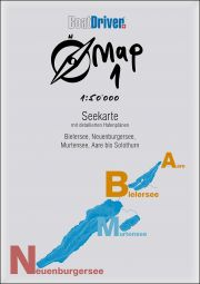 BoatDriver Map 1 - Lac de Bienne, lac de Neuchâtel, lac de Morat, Aar jusqu'à Soleure