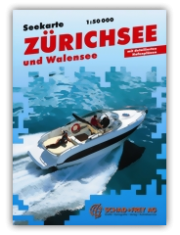 Seekarte Zürichsee und Walensee