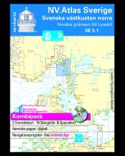 NV.Atlas Sverige SE5.1: Svenska västkusten norra, Norska gränsen till Lysekil 2017/18