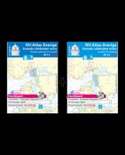 NV.Atlas Sverige norra SE5.1, södra SE5.2: Svenska västkusten, Norska gränsen till Lysekil, Lysekyl till Varberg 2017/18
