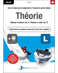 Box | BoatDriver - Théorie: Bateau à moteur cat. A / Bateau à voile cat. D + Livre de théorie (f)