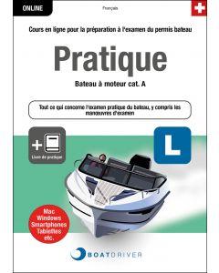 Box | BoatDriver - Pratique: Bateau à moteur cat. A +  Livre de pratique (f)