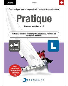 Box | BoatDriver - Pratique: Bateau à voile cat. D + Livre de pratique (f)