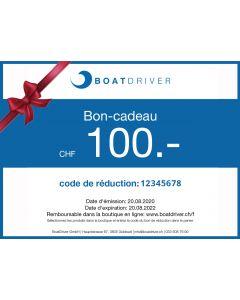 BoatDriver Bon-cadeau CHF 100.- (sera envoyé par e-mail sous 1 jour ouvrable)