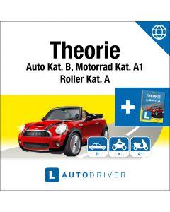Online: AutoDriver - Theorie Kat. B, A, A1 (dfi) + Theorie-Buch