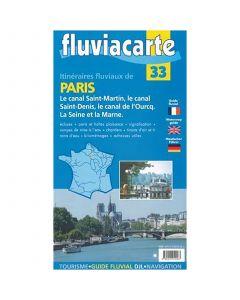 Fluviacarte C033 - PARIS - Itinéraires fluviaux - carte