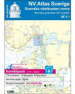 NV.Atlas Sverige SE5.1 - Svenska västkusten norra