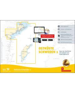 Sportbootkarten Satz 12: Ostküste Schweden 2 (Ausgabe 2020/2021)