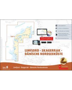 Sportbootkarten Satz 6: Limfjord - Skagerrak - Dänische Nordseeküste (Ausgabe 2020/2021)