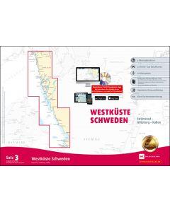 Sportbootkarten Satz 3: Westküste Schweden (Ausgabe 2020/2021)