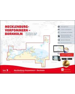 Sportbootkarten Satz 2: Mecklenburg-Vorpommern - Bornholm (Ausgabe 2020)