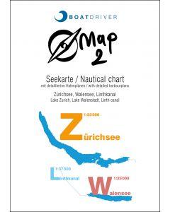 BoatDriver Map 2 - Lac de Zurich, lac de Walenstadt, canal de la Linth