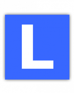 L-Schild magnetisch (Auto)