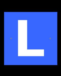 L-Schild mit Saugnapf (Auto)