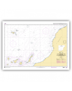 SHOM 7270L De Casablanca au Cap Jubi - Archipel de Madère et Iles Canaries (Islas Canarias)