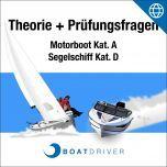 Online   BoatDriver - Theorie + Prüfungsfragen Motorboot Kat. A / Segelschiff Kat. D (dfie)