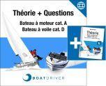 Online | BoatDriver - Théorie + questions d'examen bateau à moteur/bateau à voile cat. A/D (dfie) + livre (f)