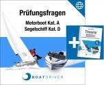 Online   BoatDriver - Prüfungsfragen: Motorboot Kat. A / Segelschiff Kat. D + Buch (d)