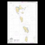 SHOM 7631L Petites Antilles - Partie centrale - De Montserrat à Saint Lucia