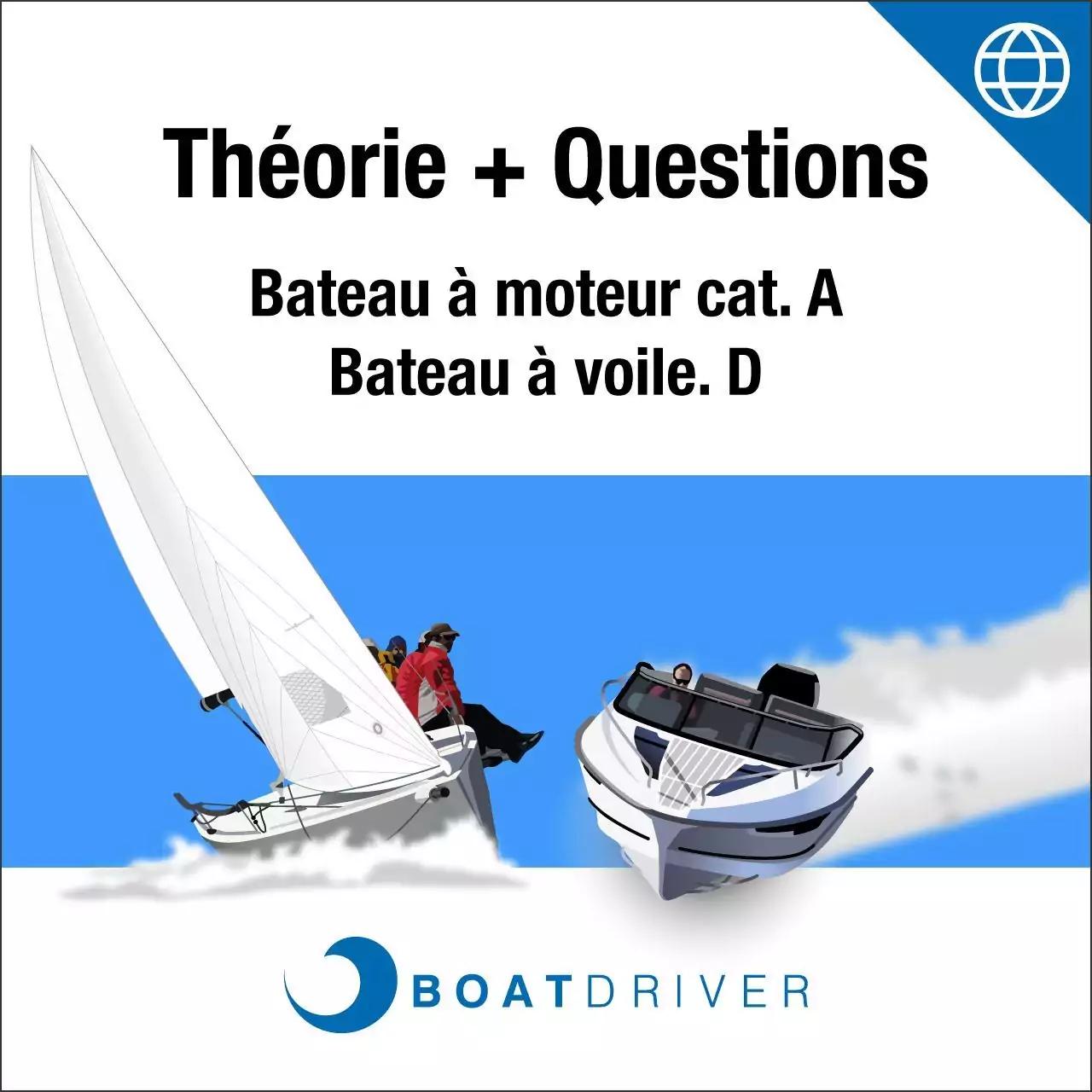 Online | BoatDriver - Théorie + questions d'examen bateau à moteur/bateau à voile cat. A/D