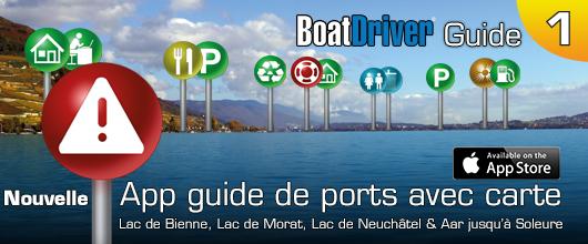 Hafenführer- & Seekartenapp - BoatDriver Guide 1 - Bielersee, Neuenburgersee, Murtensee und Aare bis Solothurn