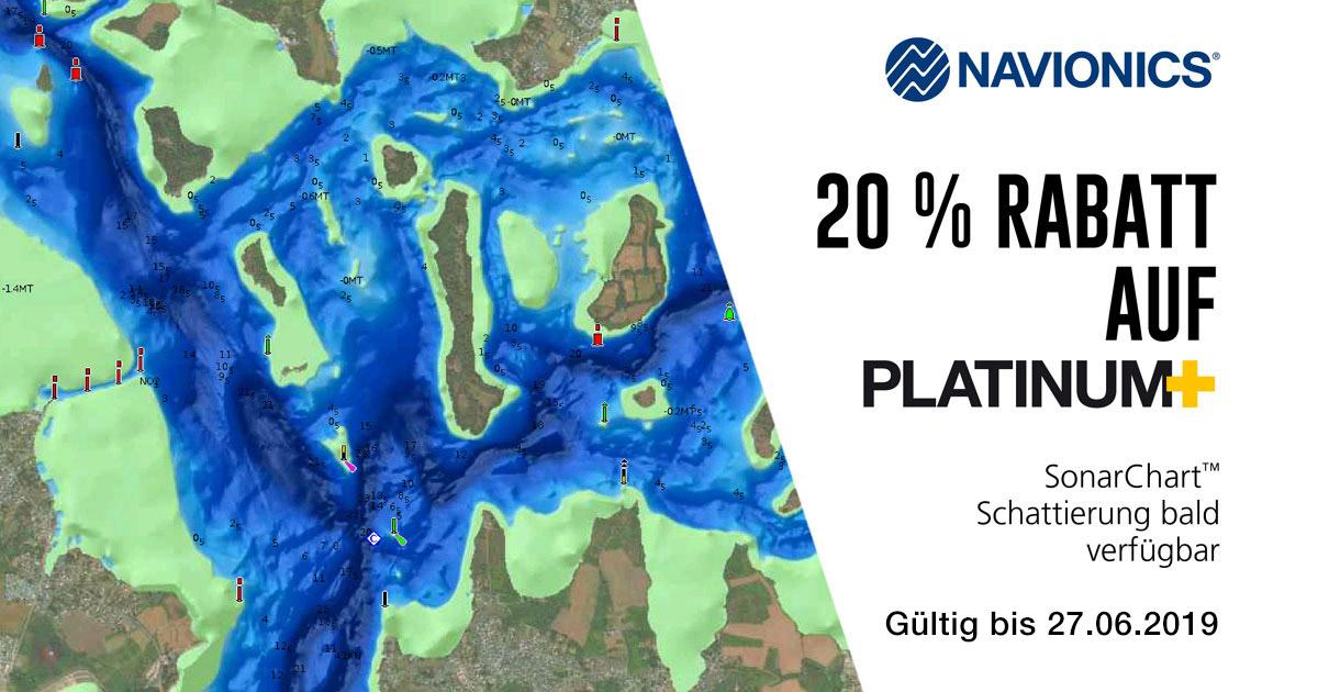 Navionics Platinum+ cartes 20% meilleur marché